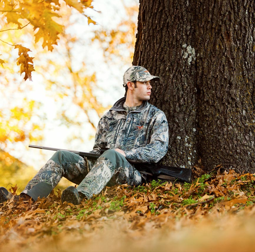 young man hunting